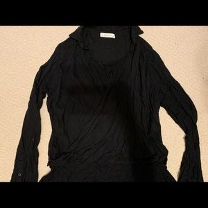 Abercrombie & Fitch Black High Low Shirt